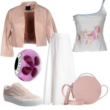 Outfit Fiori tenui
