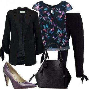Outfit Giacca e pantaloni con i fiocchi