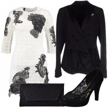Outfit Pizzo bianco e nero