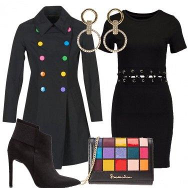 Outfit Flash di colori sul nero