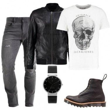 Outfit La giacca in ecopelle per l\'uomo