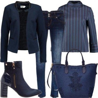 Outfit Le vie del blu
