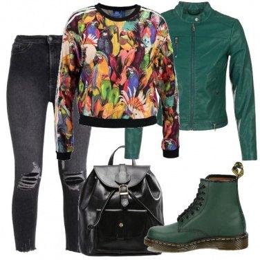Outfit La felpa multicolor