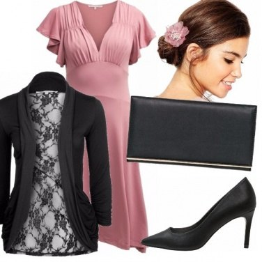 Outfit Semplice in rosa