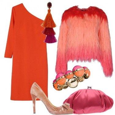 Outfit Arancio e rosa