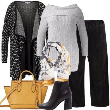 Outfit Il cardigan nero e bianco