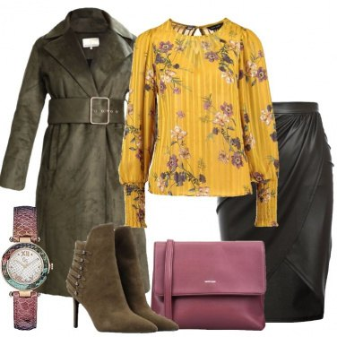 Outfit Il trench forest night