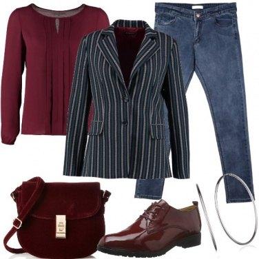 Outfit Blazer a righe