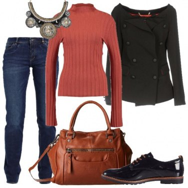 Outfit Un tocco di color ruggine