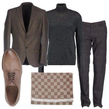 Outfit Collo alto e giacca