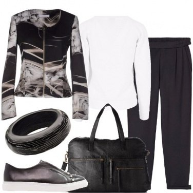 Outfit Weekend in bianco e nero