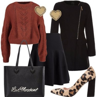 Outfit Maglioncino e gonna