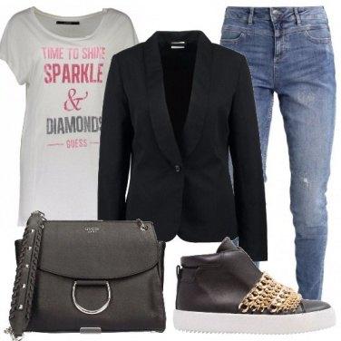 Outfit Maglietta e blazer