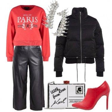 Outfit La felpa parigina