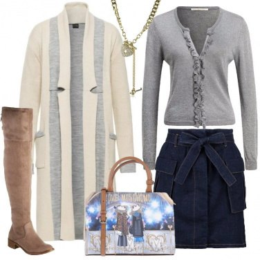 Outfit Il cappotto in maglia beige
