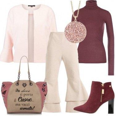 Outfit Rosa con grinta