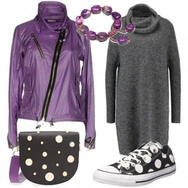 Outfit Una ragazza a pois