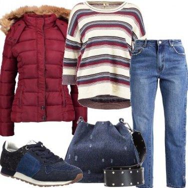 Outfit La borsa in tessuto jeans