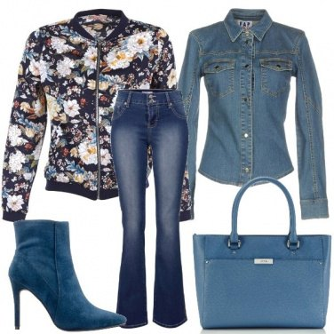 Outfit Spuntano fiori dal jeans