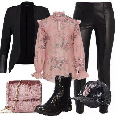Outfit Anfibi e blazer