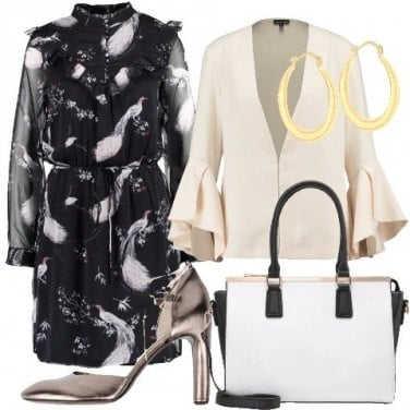 Outfit Vestito in fantasia