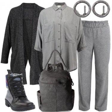 Outfit Abbinamenti di grigio