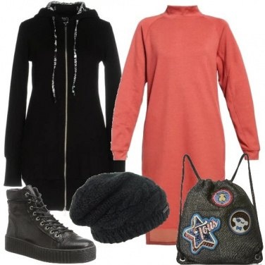 Outfit L\'abito color rame