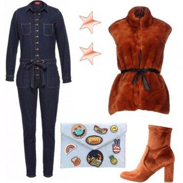 Outfit Ruggine e denim