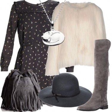 Outfit Una pelliccia ecologica