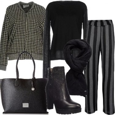Outfit Mix and match in nero e grigio