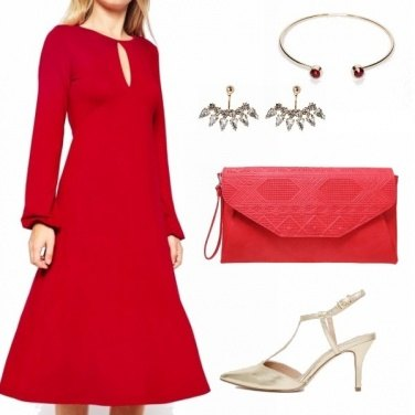 Outfit Cheap & red