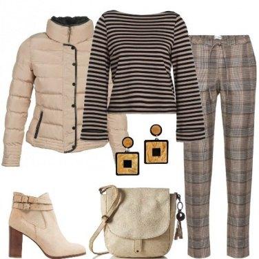 Outfit Righe e scacchi