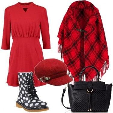 Outfit Anfibi a pois