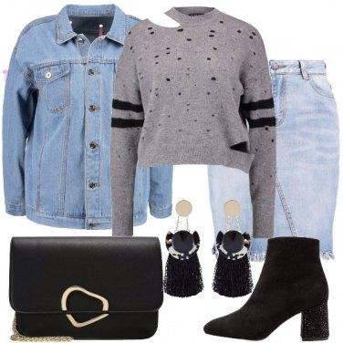 Outfit La gonna di jeans
