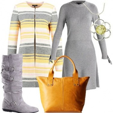 Outfit Cappotto a righe