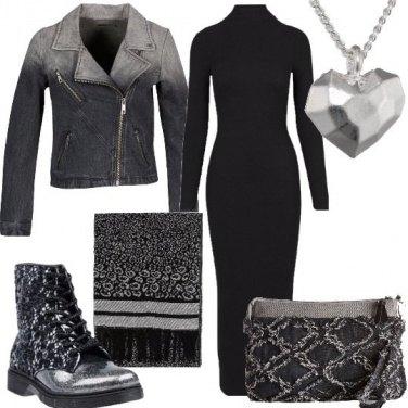 Outfit Anfibi e tubino in stile Urban