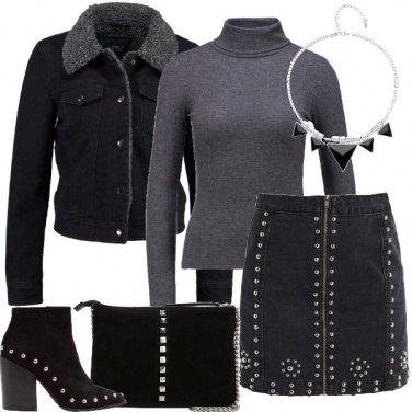Outfit Jeans e borchie