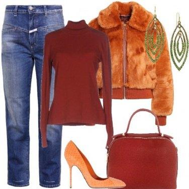 Outfit Arancio come le foglie