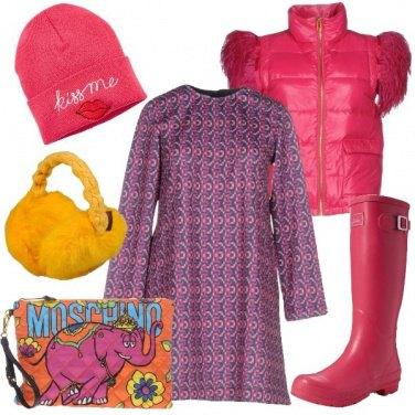 Outfit Elefantino rosa