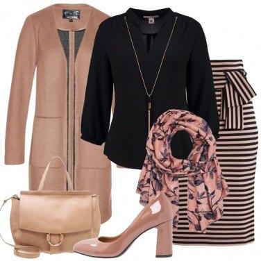 Outfit Cammello e nero