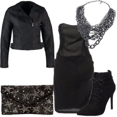 Outfit Biker in eleganza nera