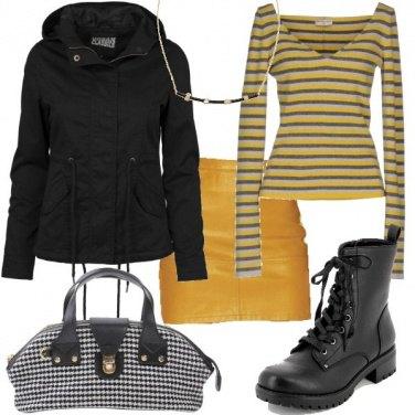 Outfit Righe e pied de poule