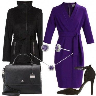 Outfit Il vestito viola