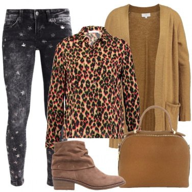 Outfit Animalier e stelline