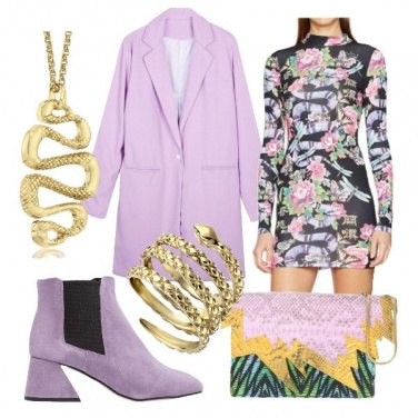 Outfit Lilla e serpenti