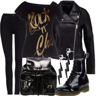 Outfit Un po\' rock, un po\' chic