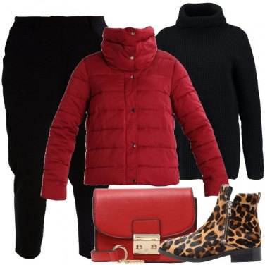 Outfit Giacca rossa