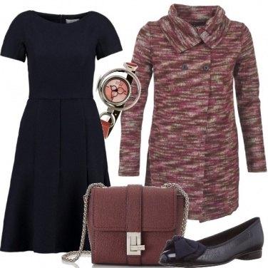 Outfit Blu e rosso bordeaux