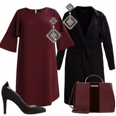 Outfit Il vestito elegante bordeaux