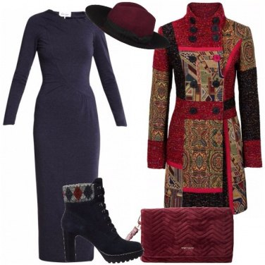 Outfit Vestito lungo e anfibi